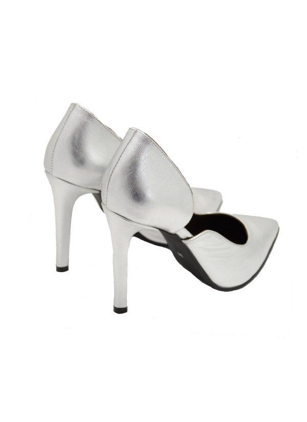 Silver D'Orsay Stiletto