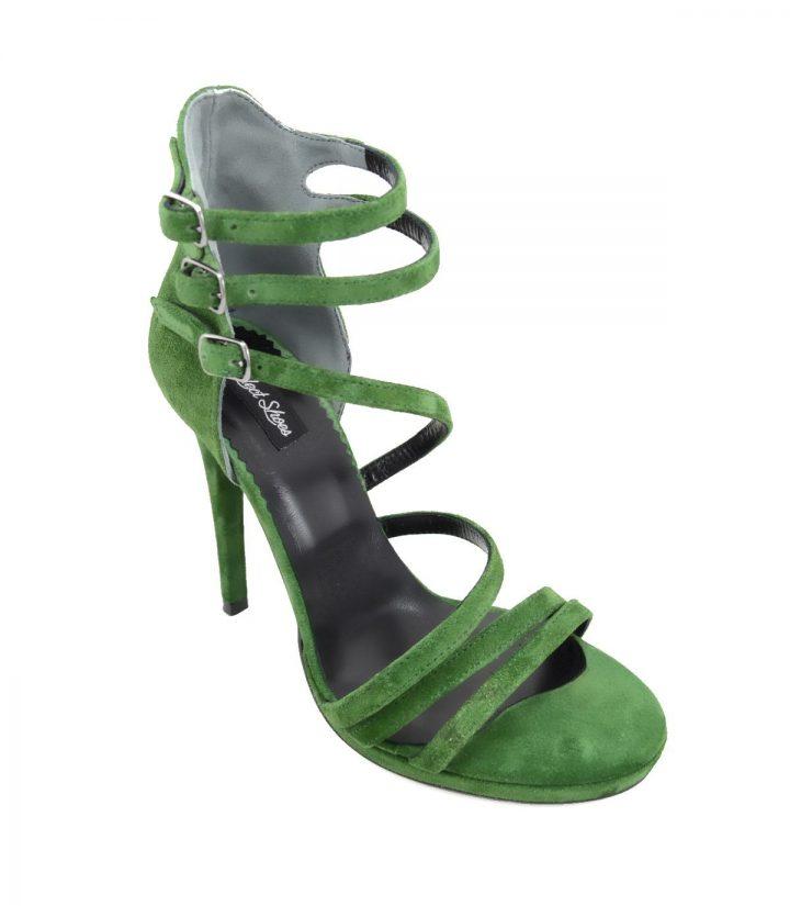 Sandale Verzi Toc Stiletto