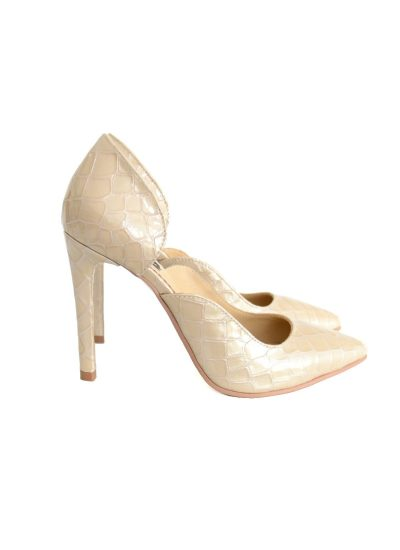 Stiletto Croco Beige