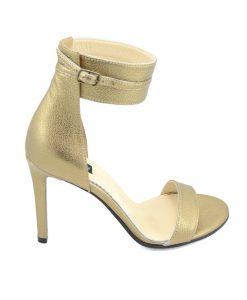 Sandale Bronz Toc Stiletto