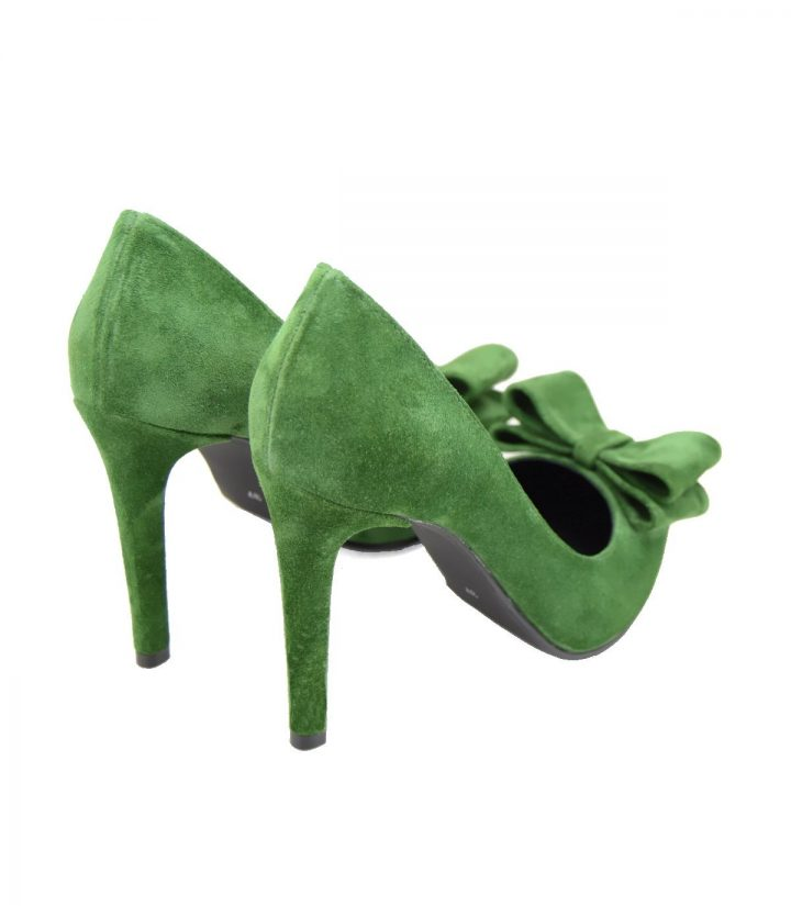 Stiletto Verde cu Fundita