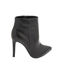 Ghete Vogue Negre cu Toc Stiletto