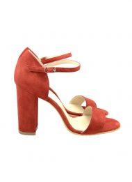 Sandale Rosii Toc Gros