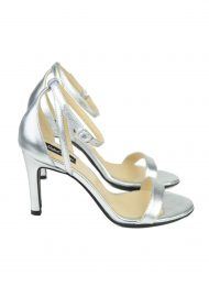 Sandale Argintii Toc Stiletto 3