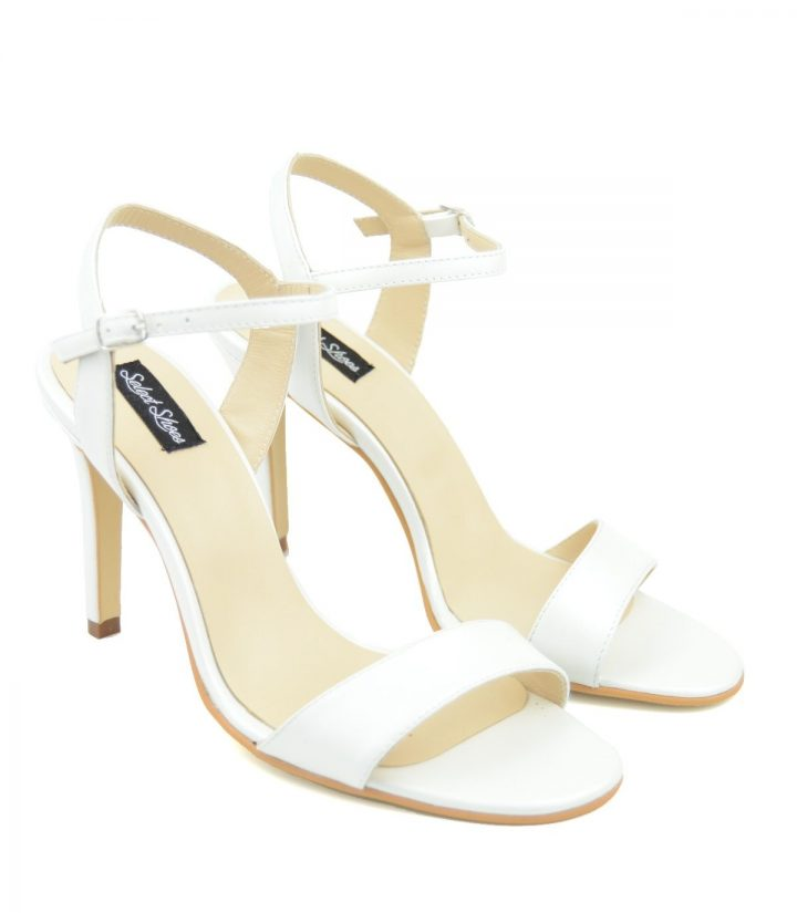 Sandale Stiletto Sling Back Ivoire
