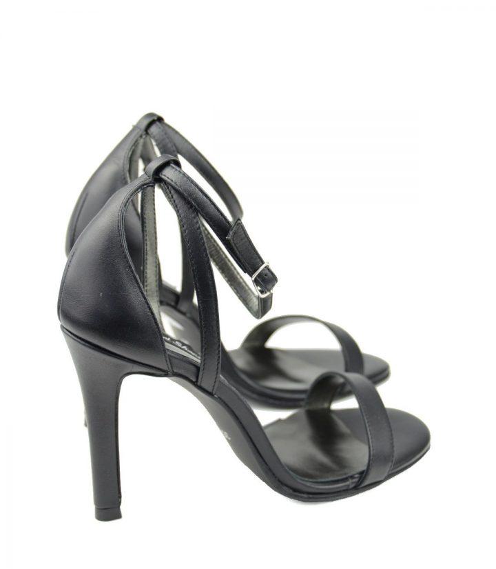 Sandale Toc Stiletto Negre