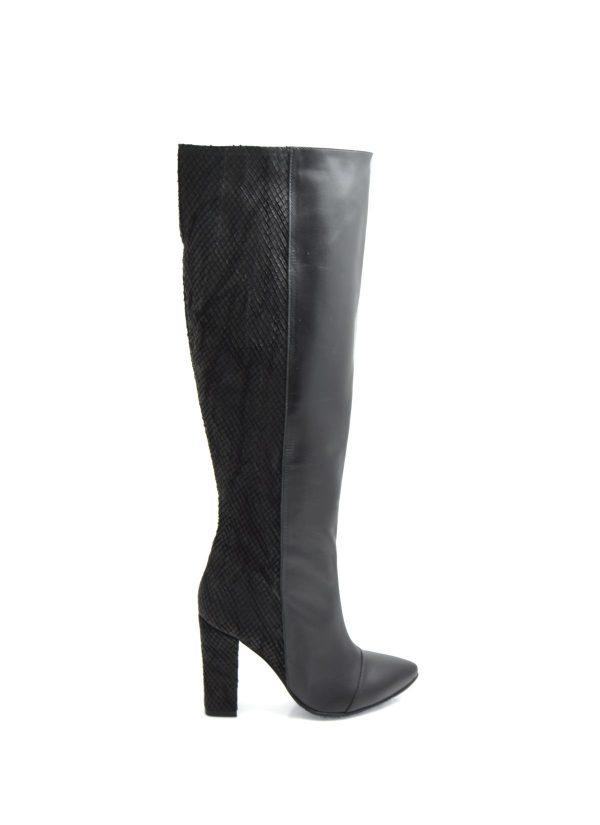 Textured Black Boots