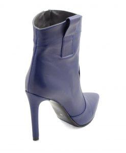Botine Stiletto Bleumarin