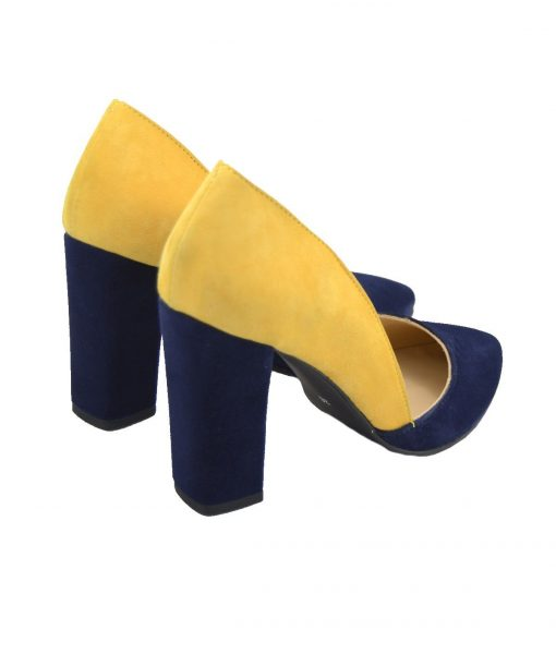Pantofi Decupati Toc Gros
