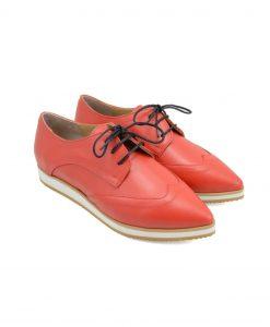 Pantofi Derby Rosii