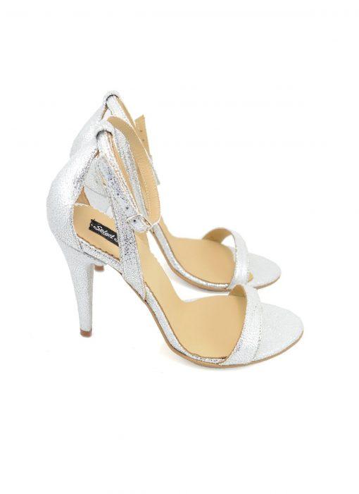 Sandale Argintii Glitter