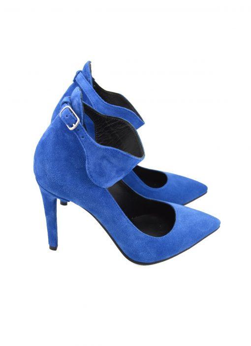 Stiletto Ankle Strap Albastru