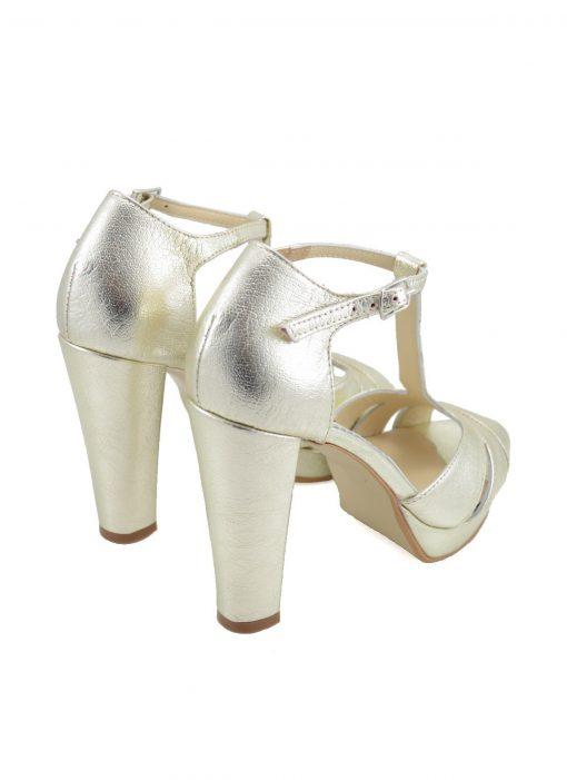 Sandale Aurii cu Platforma