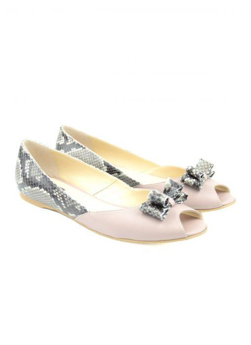 Balerini Nude Sarpe - Pantofi Dama