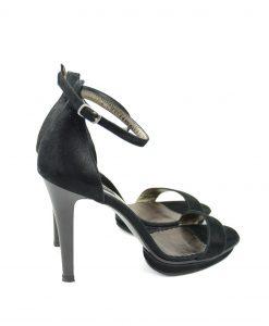 Sandale Negre Cu Platforma