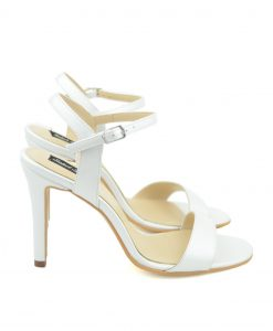 Sandale Stiletto Sling Back Ivoire