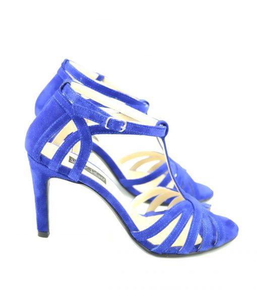 Sandale Albastru Electric Toc 8 CM