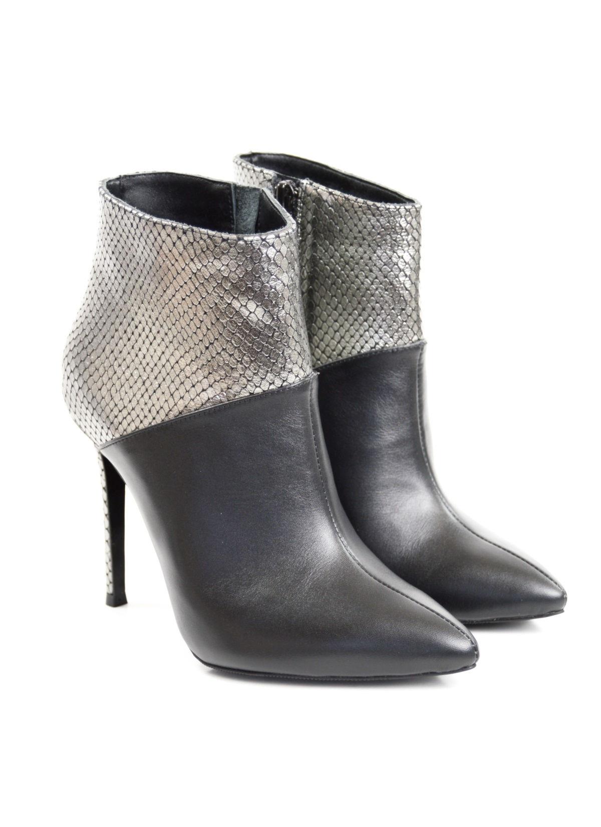 mai tarziu vânzare profesională arata bine vanzare pantofi Black & Silver Attitude Ankle Boots - Pantofi la comanda by Select ...