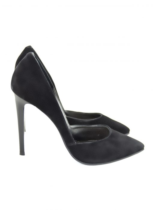 Stiletto negru decupat lateral