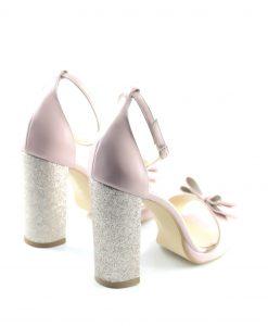 Sandale Nude Cu Funda Papion
